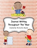 Journal Writing Throughout The Year- Journal prompts, pape
