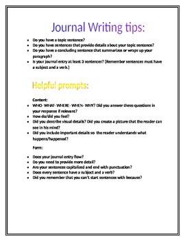 Journal Writing Tips