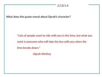 Journal Writing/Quick Write Topics -- 30 Days  -- Group 3