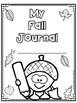 Journal Writing for Fall - Write and Draw
