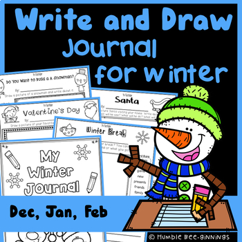 Journal Writing for Winter - Write and Draw