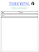 Journal Writing page template