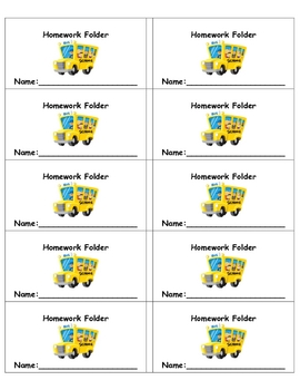 Journal and Folder Labels