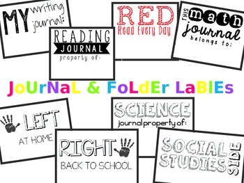 Journal and Folder Labels 2 11/16 x 2