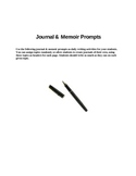 Journal and Memoir Prompts