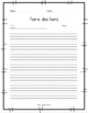 Journal du lecteur - Reading Journal (French)