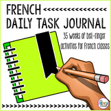 DISTANCE LEARNING - Journal du matin French daily activities