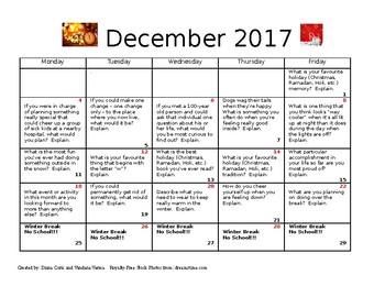 Journal entries for December 2017