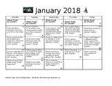 Journal entries for January 2018