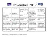 Journal entries for November 2017
