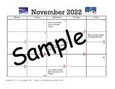 Journal entries for November 2018