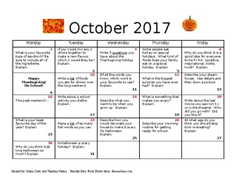Journal entries for October 2017