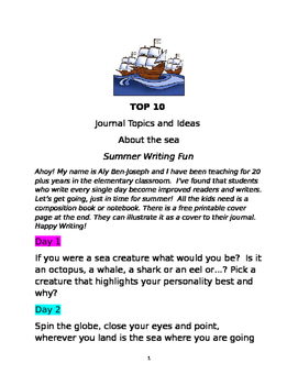 Journal ideas grades 2 through 5
