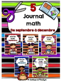 Journal math combinaison De septembre à décembre