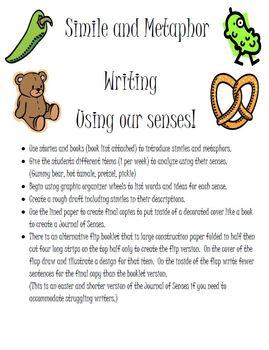 Journal of Senses using Similes and Metaphors