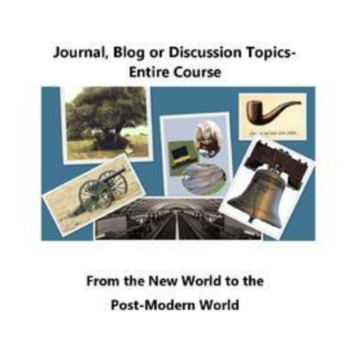 Discussion, Journal or Blog- The New World to the Post-Modern World Topics