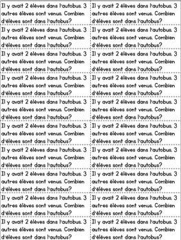Journal quotidien de mathématiques - septembre (French Sept. Journal Prompts)
