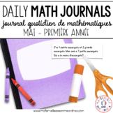Journal quotidien de maths - MAI (French Math Journal Prompts) - 1E ANNÉE