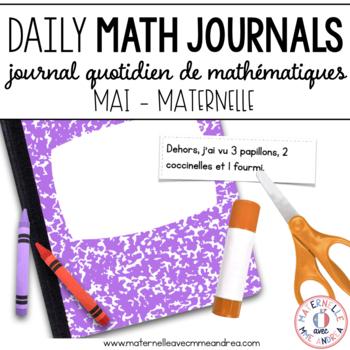 Journal quotidien de maths - MAI (French Math Journal Prompts) - MATERNELLE