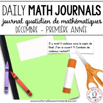 Journal quotidien de maths - decembre (French Math Journal