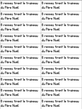Daily French Math Journal Prompts - December (Journal de maths) MATERNELLE
