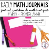 French Grade 1 Math Journal Prompts (Journal de mathématiques 1e année) FÉVRIER
