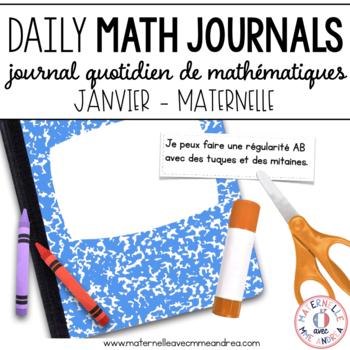 Journal quotidien de maths - janvier (French Math Journal Prompts) - MATERNELLE