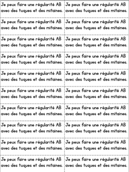 Daily French Math Journal Prompts - January (Journal de maths) MATERNELLE