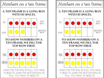 Journal size math anchor charts- Kindergarten