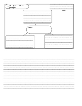 Journal template with organizer