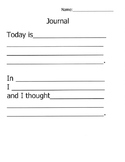 Adapted Journal Templates with Visual Supports