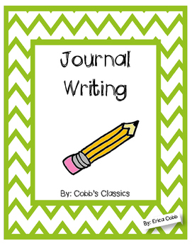 Journal writing unit for primary grades