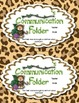 Journal/Folder Labels - Jungle/Rainforest Themed