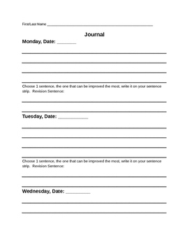 Journaling Packet