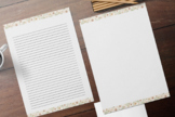 Journaling Papers with Creme Rose