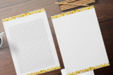 Journaling Papers with Yellow Flowers