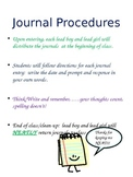 Journaling Procedures and Expectations
