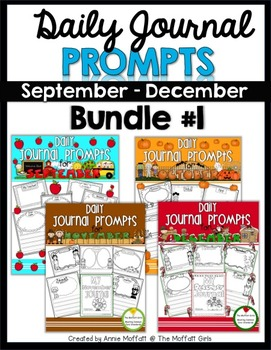 Journaling Prompts (September - December) Bundle #1