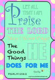 Journaling Scripture Card