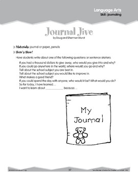Journaling (Ten-Minute Activities)