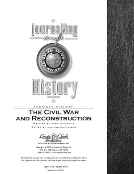 Journaling Through History Civil War and Reconstruction