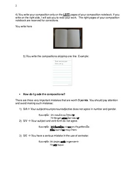 Journaling in Spanish: Intructions for writing and grading journals
