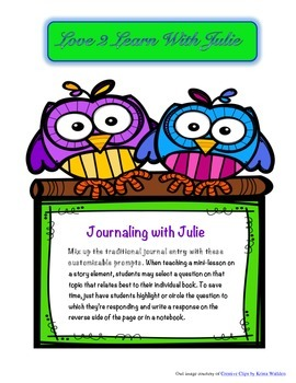 Journaling with Julie - Prompts for Language Arts Journaling