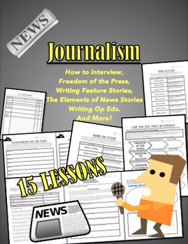 Journalism 15 Lesson Packet Elements of News Stories, Op ...