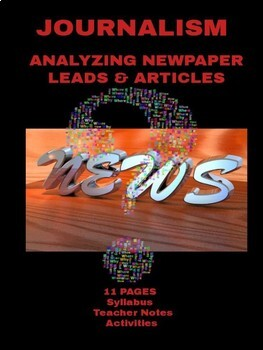 Journalism: Analyzing Newspaper Leads and Articles Lessons & Activities