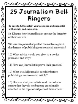 Journalism Bell Ringers