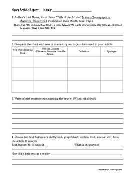 Journalism - Choice Boards activities