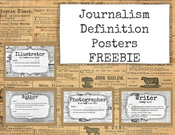 Journalism Definition Posters