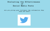 Journalism Lesson: Social Media Effectiveness/Evaluation