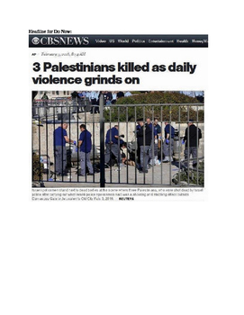 Journalism: Media Bias in Headlines (Uses Israel/Palestine examples)